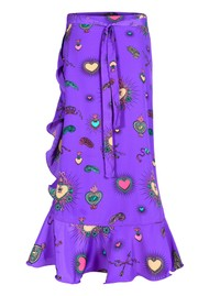 STARDUST Mila Wrap Skirt - Purple