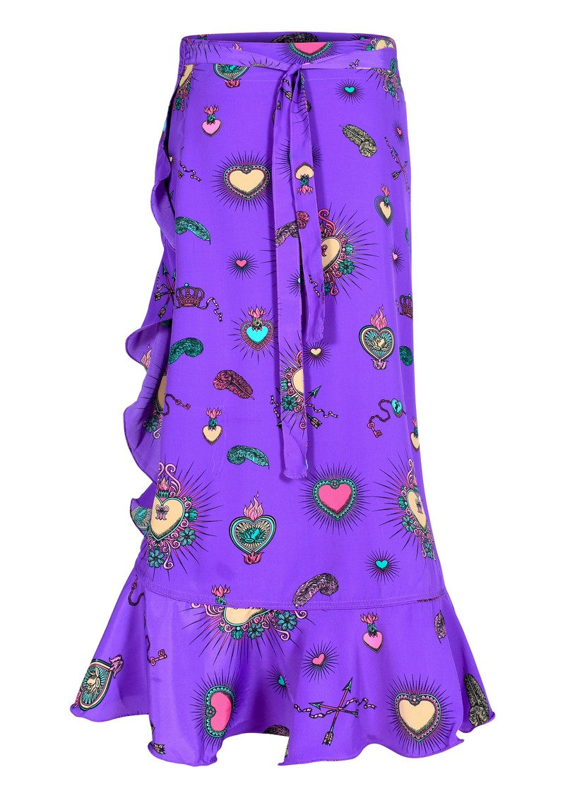 STARDUST Mia Wrap Skirt - Purple main image