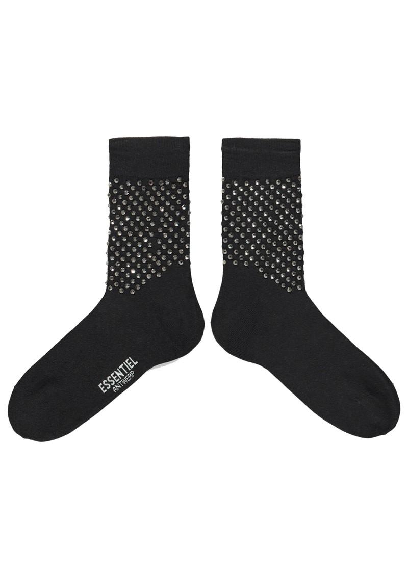 ESSENTIEL ANTWERP Tiamonds Embellished Cotton Blend Socks - Black main image