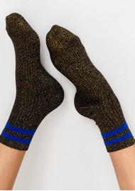 ESSENTIEL ANTWERP Tlamour Lurex Stripe Socks - Black