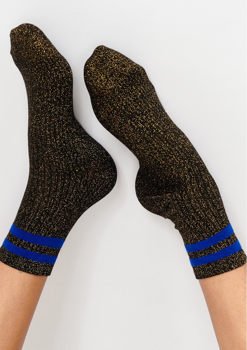 ESSENTIEL ANTWERP Tlamour Lurex Stripe Socks - Black main image