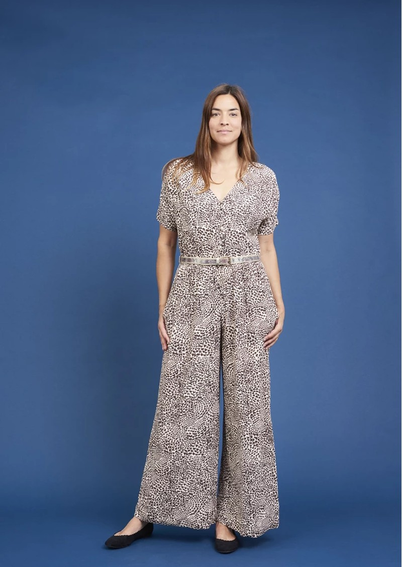 Bobbi Jumpsuit - Mini Leopard main image