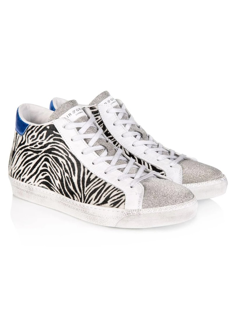 AIR & GRACE Alto High Top Trainers - Zebra Print main image