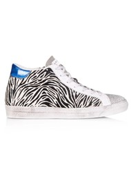 AIR & GRACE Alto High Top Trainers - Zebra Print