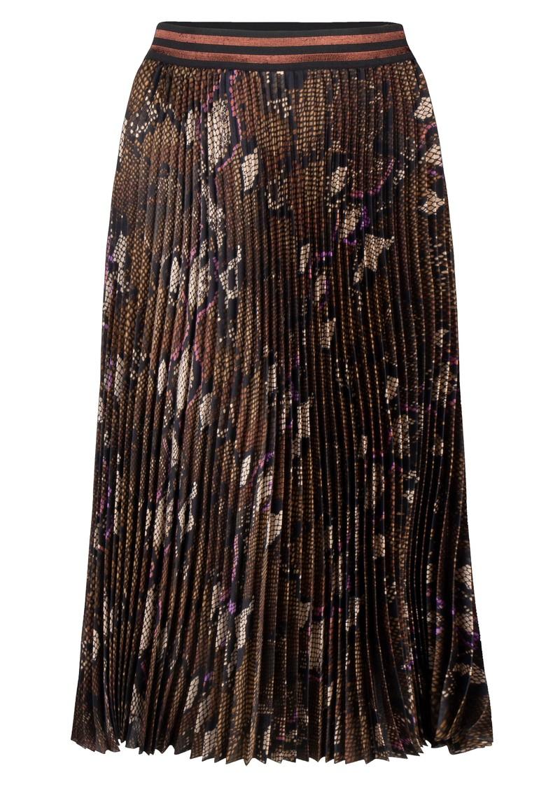 DANTE 6 Leann Python Print Pleated Skirt - Bitter Chocolate main image