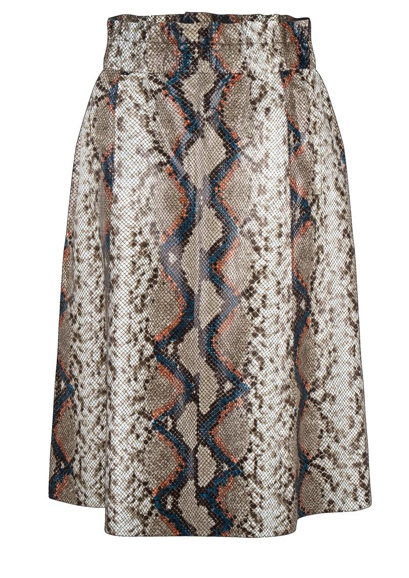 DANTE 6 Tamari Python Leather Skirt - Bitter Chocolate main image