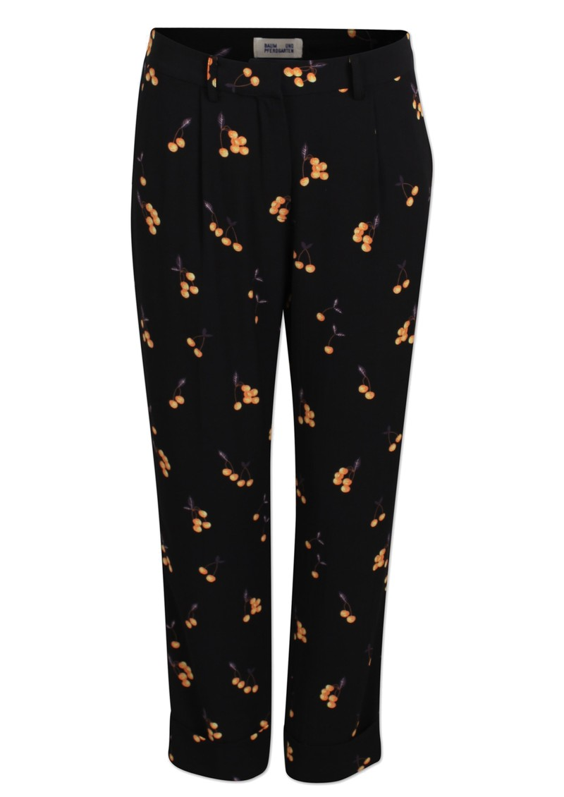 BAUM UND PFERDGARTEN Narethe Printed Trousers - Orange Cherry main image