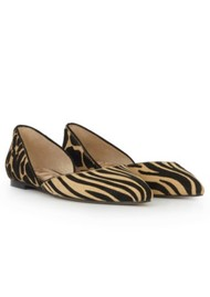 Sam Edelman Rodney Safari Zebra Flat - New Nude