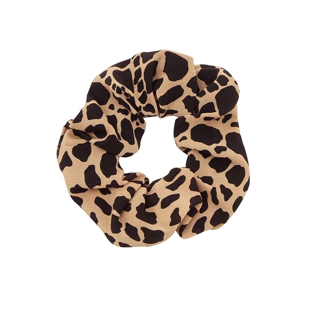 Silk Printed Scrunchie - Leo Croc