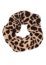 HAYLEY MENZIES Silk Printed Scrunchie - Leo Croc
