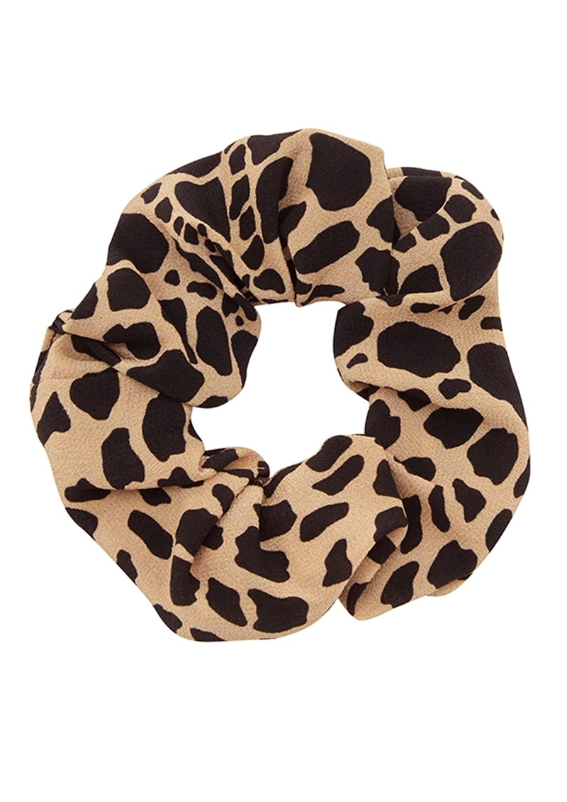 HAYLEY MENZIES Silk Printed Scrunchie - Leo Croc main image