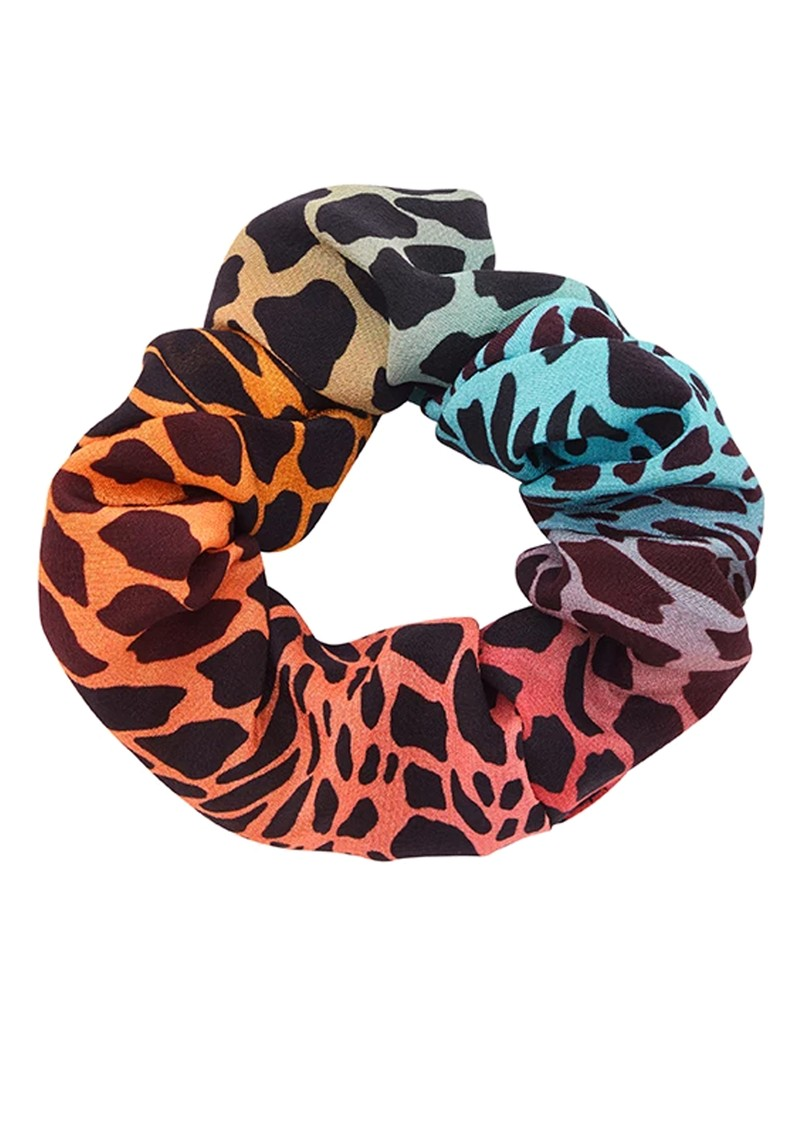 HAYLEY MENZIES Silk Printed Scrunchie - Ombre Croc main image