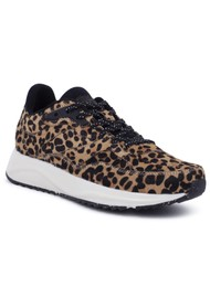 WODEN Sophie Pony Trainers - Leopard