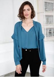 MAYLA Eloise Silk Blouse - Mallard Blue