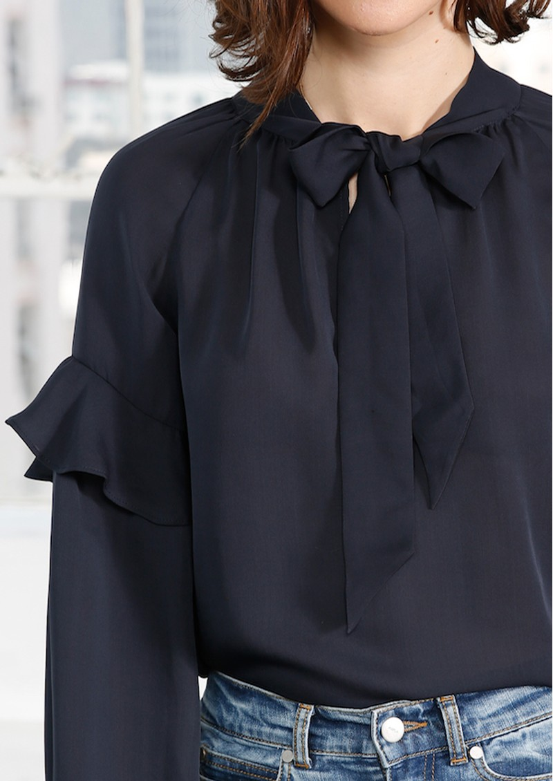 MAYLA Eloise Silk Blouse - Dark Navy main image