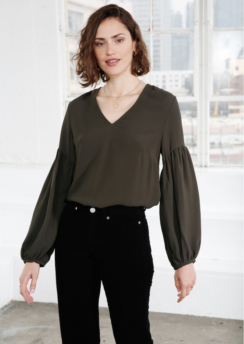 Ally Blouse - Moss main image