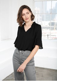 MAYLA Carrie Blouse - Black
