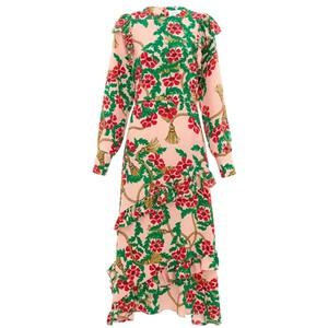 Eden Midi Frill Dress - Eden Rose