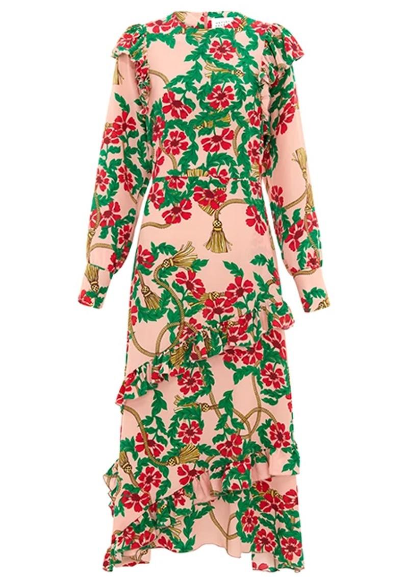 HAYLEY MENZIES Eden Midi Frill Dress - Eden Rose main image