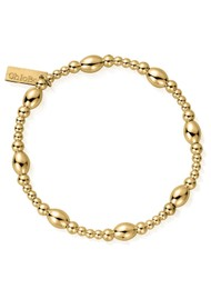ChloBo Cosmic Connection Cute Oval Bracelet - Gold