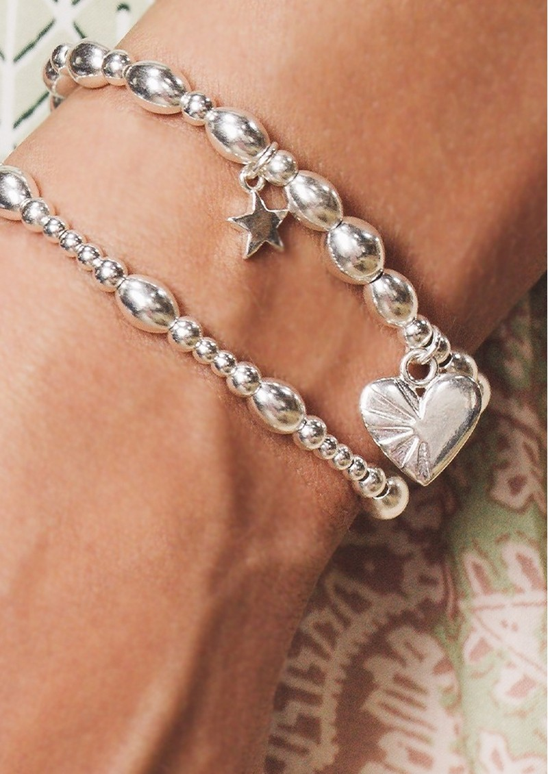 ChloBo Cosmic Connection Cute Oval Bracelet - Silver main image