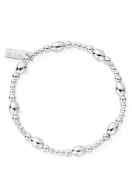 ChloBo Cosmic Connection Cute Oval Bracelet - Silver