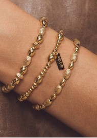 ChloBo Cosmic Connection Double Rice Bracelet - Gold
