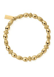 ChloBo Cosmic Connection Mini Oval Disc Bracelet - Gold