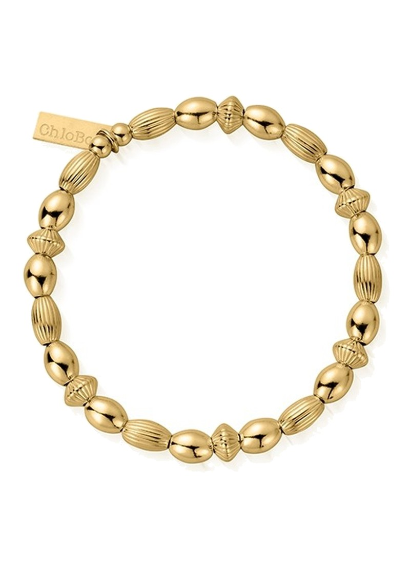 Cosmic Connection Mini Oval Disc Bracelet - Gold main image