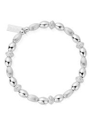 ChloBo Cosmic Connection Mini Oval Disc Bracelet - Silver