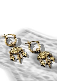 ChloBo Splendid Star Stardust Hoop Earrings - Gold