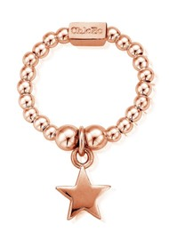 ChloBo Mini Ball Star Ring - Rose Gold