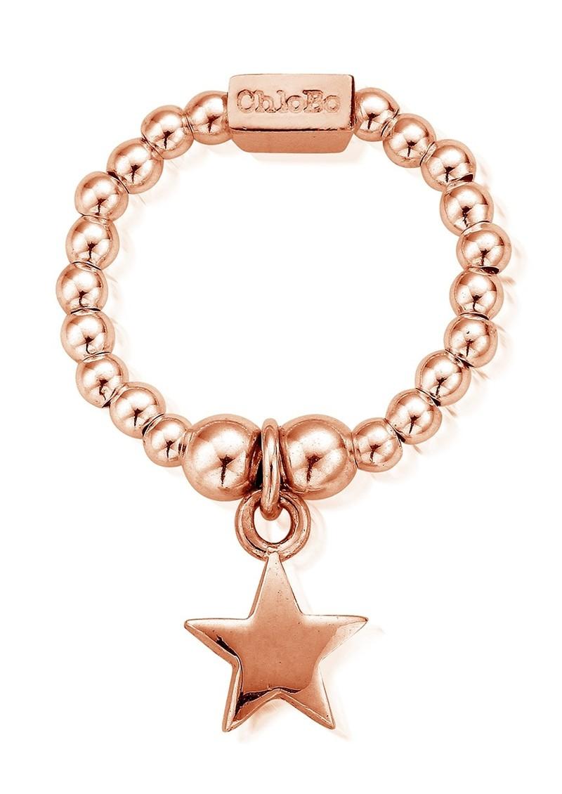 ChloBo Mini Ball Star Ring - Rose Gold main image