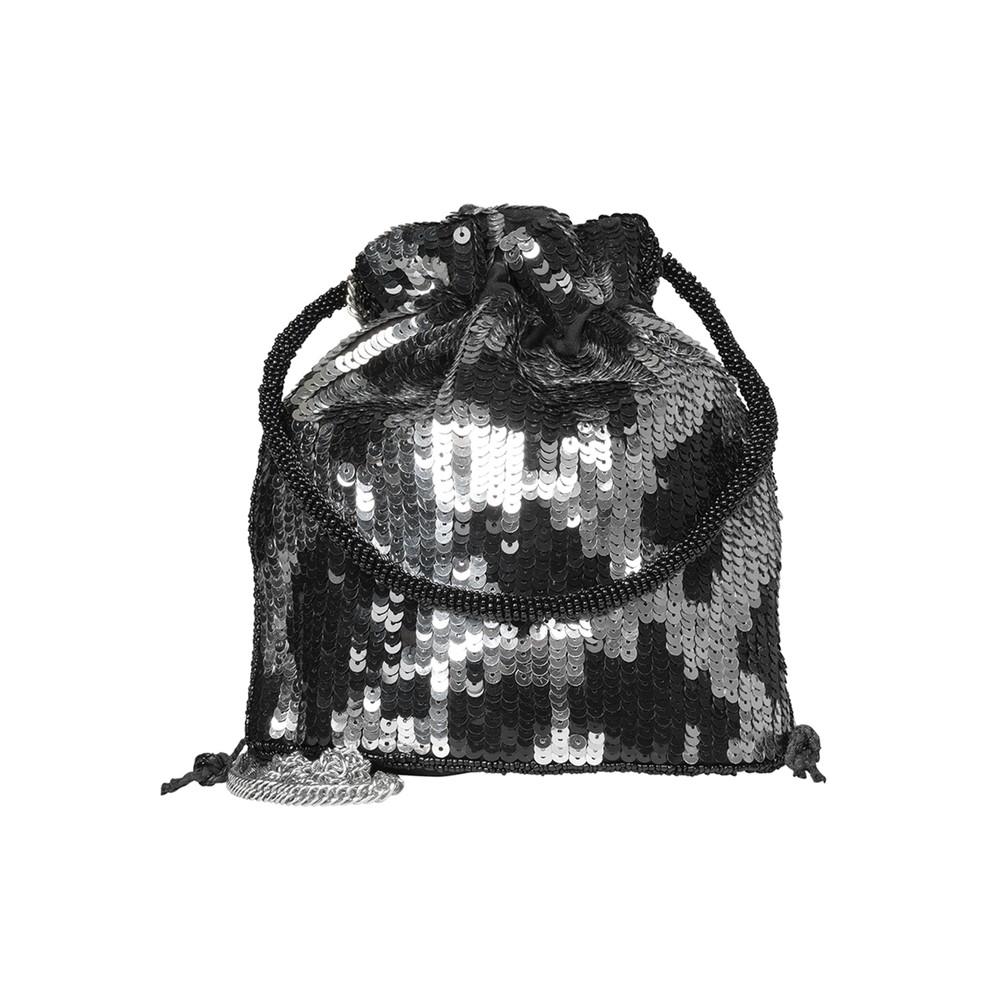 Una Tora Sequin Bag - Silver