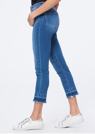 Paige Denim Hoxton Slim Crop Undone Hem Jeans - Plaza