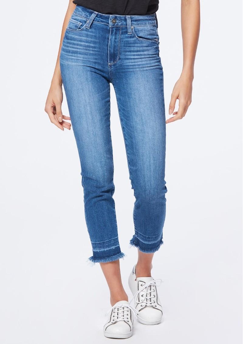 Paige Denim Hoxton Slim Crop Undone Hem Jeans - Plaza main image