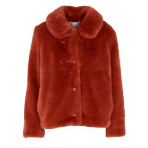 Lenie Faux Fur Short Jacket - Coing