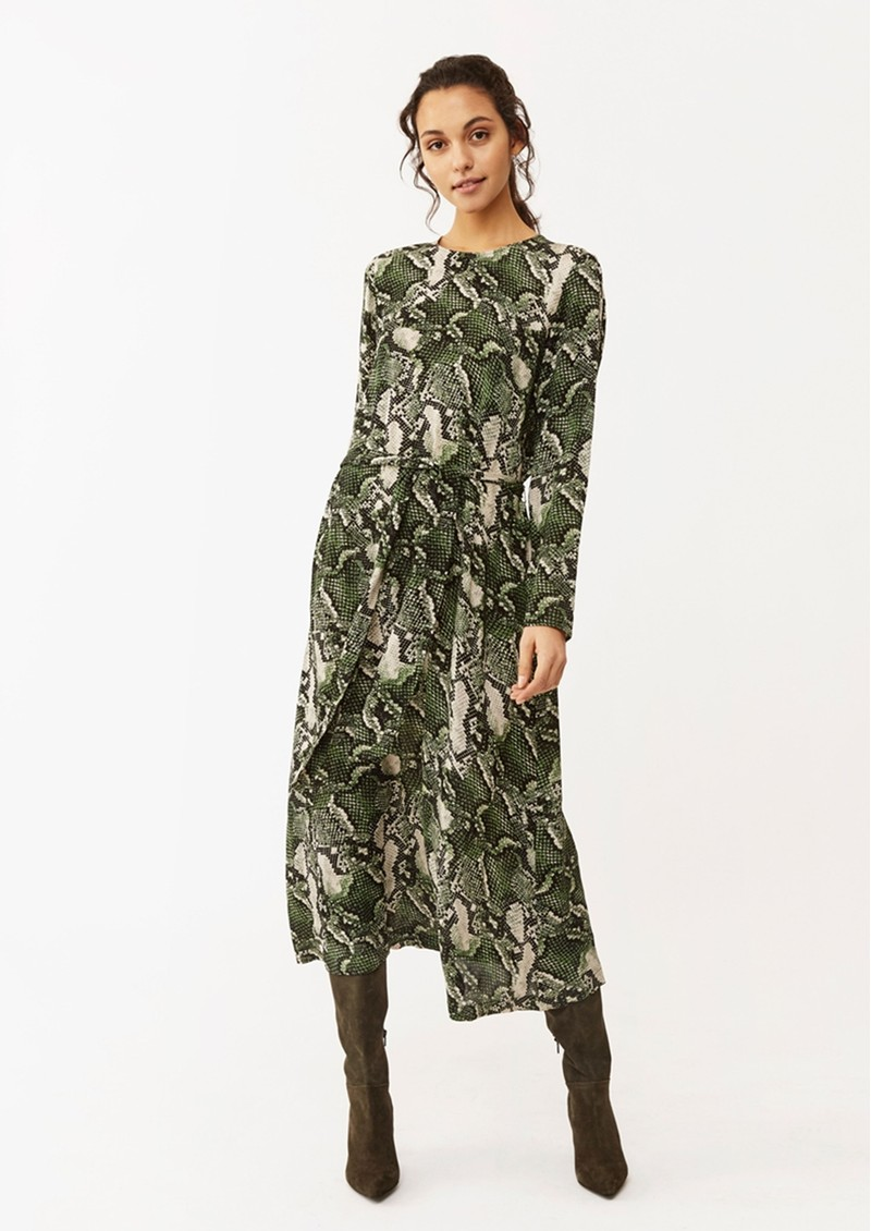 Twist and Tango Isabel Python Dress - Green Snake main image