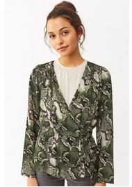 Twist and Tango Isabel Python Blouse - Green Snake