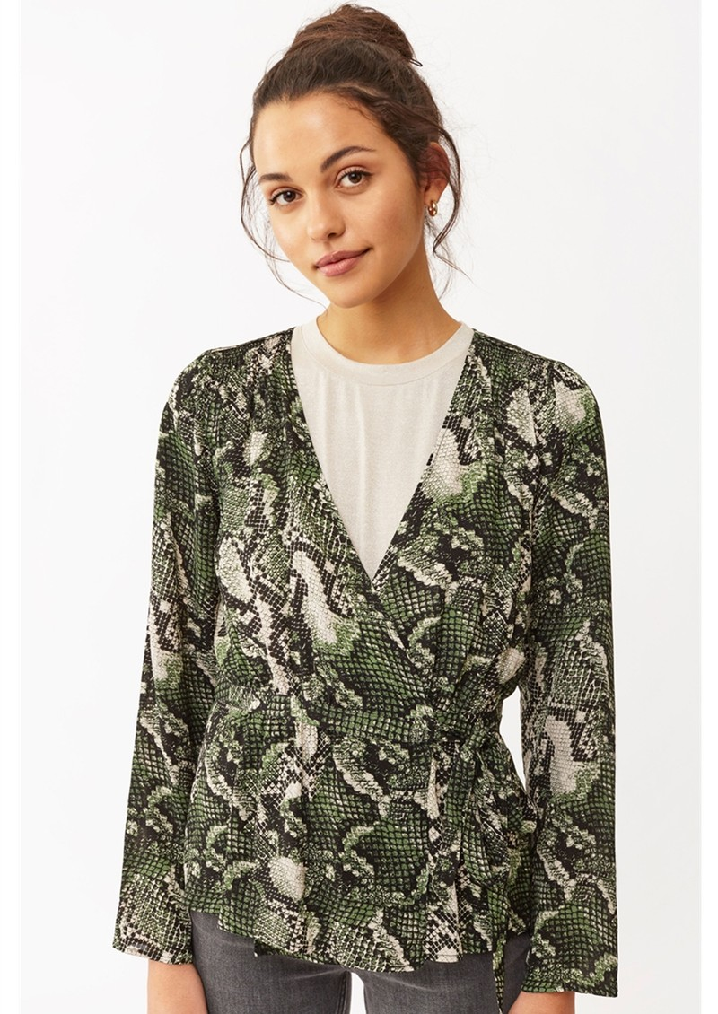 Twist and Tango Isabel Python Blouse - Green Snake main image