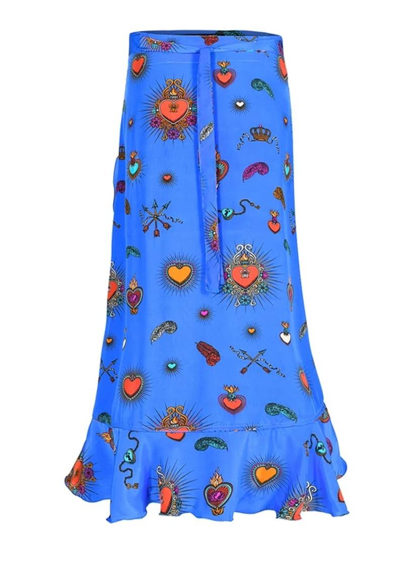 STARDUST Mia Wrap Skirt - Blue main image