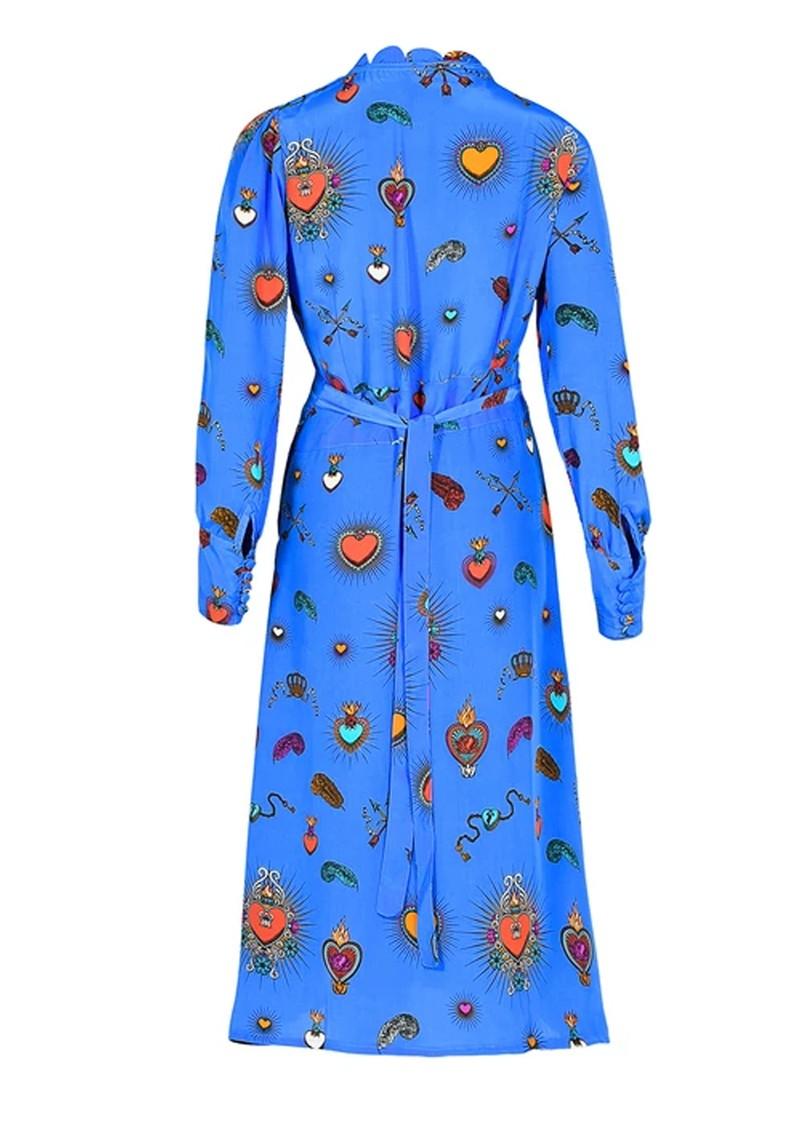 STARDUST Scallop Midi Dress - Blue main image