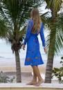 STARDUST Scallop Midi Dress - Blue