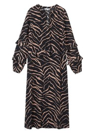 Lily and Lionel Rina Silk Dress - Tiger Black