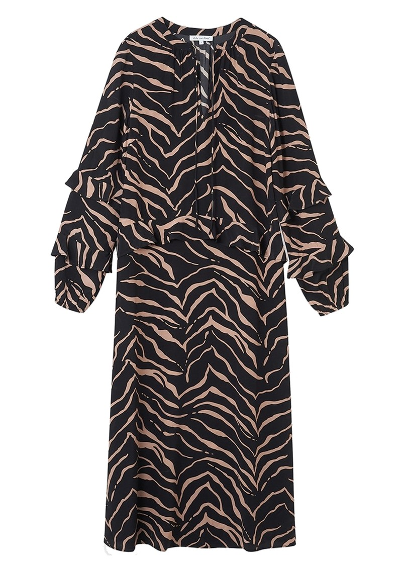 Lily and Lionel Rina Silk Dress - Tiger Black main image