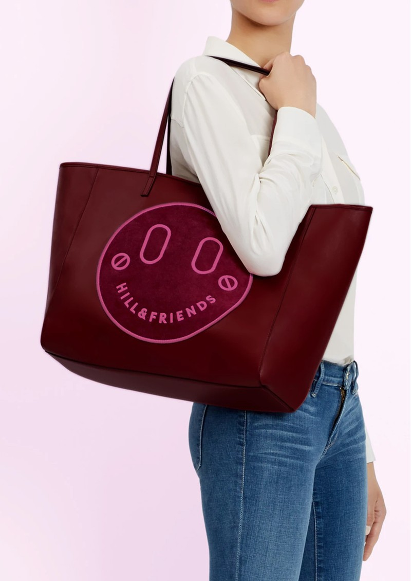 HILL & FRIENDS Slouchy Tote - Oxblood main image