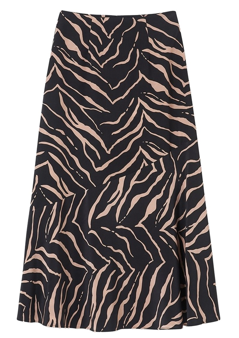Lily and Lionel Lottie Silk Skirt - Tiger Black main image