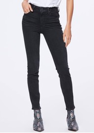 Paige Denim Sarah Slim Jeans - Black Willow