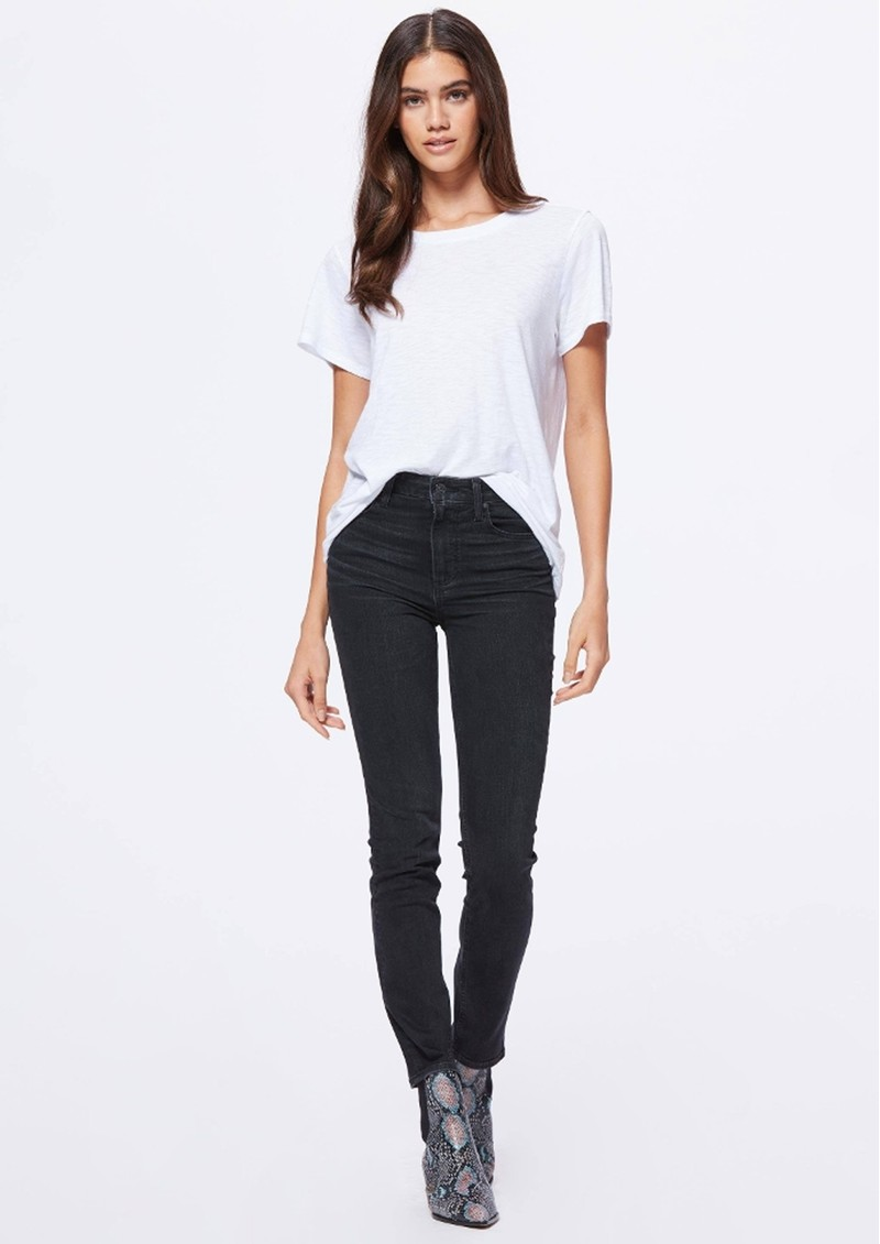 Paige Denim Sarah Slim Jeans - Black Willow main image