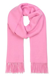 SAMSOE & SAMSOE Accola Maxi Wool Mix Scarf - Bubblegum Pink